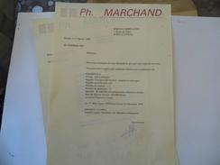 Document  , Lettre & Carte De Visite - Ets Ph Marchand - 02 Bohain - Vieux Papiers