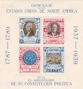 Guatemala 1938 150th Anniversary Of US Constitution Souvenir Sheet, Mint Hinged - Guatemala