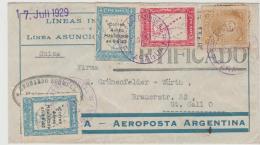 Par039 / PARAGUAY -  LUFTPOST  Einschreiben 1929 In Die Schweiz (St. Gallen) - Paraguay