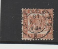 Bad297 / Mi.Nr. 20b, Zentrischer Ortsstempel - Baden