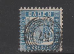 Bad295 / Mi.Nr. 19b, Nr.-Stempel, Spätverwendung Auf Dieser Ausgabe - Baden