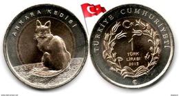 Turquie - 1 Lira 2015 (Chat Angora - UNC) - Turquie