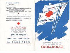 CROIX ROUGE - Prospectus, Flyer - Pourquoi Vous Devez être Membre De La Croix Rouge -  1958? D'après DUFOURNET Imp.LANG - Historical Documents