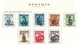 AUSTRIA 1948-50 - Costumi Nazionali - 26 Valori - Mi:AT 893-926 - 1945-.... 2a Repubblica