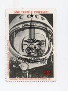 Sao Tome-1981-Gagarin- Timbre Surchargé JO Moscou***MNH - Space