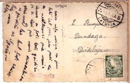 """Latvia Lettland Postcard -with-cancel- SAULKRASTI """"B"""" 5.5.1940. - Latvia"""
