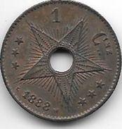 *congo 1 Centime 1888  Km1  Unc!!!! - 1885-1909: Leopold II