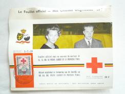 MARIAGE DU PRINCE ALBERT ET DE LA PRINCESSE PAOLA 2 JUILLET 1959 FEUILLET OFFICIEL CROIX ROUGE DE BELGIQUE - Feuillets