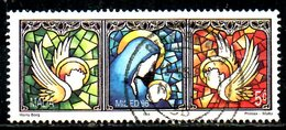MALTE. N°976 De 1996 Oblitéré. Vitrail/Noël. - Vetri & Vetrate