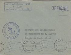 LETTRE 31.7.46  BASE AERONAUTIQUE NAVALE FREJUS-ST RAPHAEL. SERVICE A LA MER  POUR SSPM LYON - Marcophilie (Lettres)