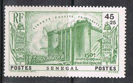 SENEGAL N°155 N*  REVOLUTION - Senegal (1887-1944)