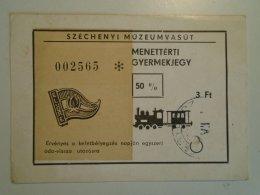 H3.7 Ticket De Train - Railway  - Széchenyi Múzeumvasút Return Ticket For Children 50%  Pioneer Train Hungary - Unclassified