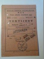 H3.10 Ticket De Train - Railway  -Hungary - MSRE Stamps - Orosháza Return Ticket 1929  MÁV - Transportation Tickets
