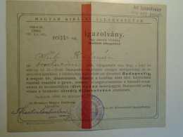 H4.1 Ticket De Train - Railway  -Hungary - FREE TICKET  To Agricultural Exhibition Budapest 1929 -Orosháza - Transportation Tickets