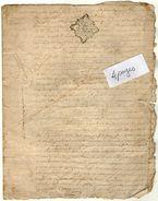 VP11.419 - ALECON - Acte De ? Concernant Le Village De COURTONNE LA VILLE ? - Seals Of Generality