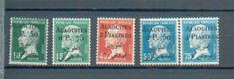 ALAOUITES 42 - YT 16-17-19-20-21 * - Alaouites (1923-1930)