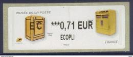 Lisa 2 Boites Aux Lettres Dejoie Ecopli 0.71 - Musée De La Poste (2017) Neuf** - 2010-... Vignettes Illustrées