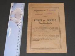 FRANCE-MOSELLE-ROMBAS- LIVRET DE FAMILLE/FAMILIENBUCH-8/10/34-EPOUX HOC Benoit Et SCAILTEUR Cecile - Documents Historiques