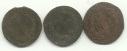 LOT 4 X 12 DENIERS   1792 An 4 De La REPUBLIQUE Atelier T NANTES + 1792 AN 4 ATELIER ?+ 1791 AN 3 A + 1+UNE A IDENTIFIER - 1789-1795 Franz. Revolution