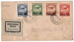Russie : Avion N° 14 à 17 Sur Lettre Par Avion (philatélique) De 1931 - Covers & Documents
