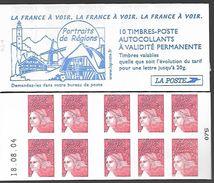 France 2001 - Yv N° 3419 - C 17 ** - La France à Voir - Portraits De Régions (daté) - Carnets