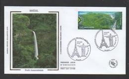 DF / FDC DU TP 4256 PAYSAGES DE FRANCE ET DU BRÉSIL / FORÊT AMAZONIENNE - Lettres & Documents