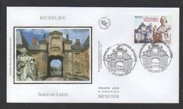 DD / FDC DU TP 4258 SÉRIE TOURISTIQUE / RICHELIEU (INDRE ET LOIRE) / PORTE MONUMENTALE ET CARDINAL DE RICHELIEU - France