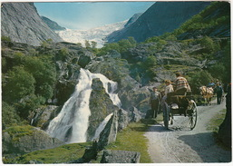 Briksdalbraen, Olden - Nordfjord - HORSE-CARTS  - (Norge/Norway) - Noorwegen