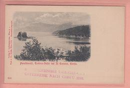 OLD POSTCARD  1900'S - GREECE - PONTIKONISI - CORFU - Grèce