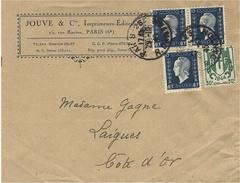 1945- Enveloppe Ouverte ( Facture ) Affr.  N° 684 X 3 + N° 671 - Marcophilie (Lettres)