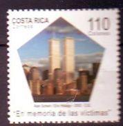Costa Rica -  2002 The 1st Anniversary Of Attack On World Trade Centre, New York - 1 V.  Mint ** - Costa Rica