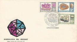 Uruguay 1972 Montevideo Amathyst Agate Chalcedony Microcrystalline Quartz Mineral FDC Cover - Mineralen