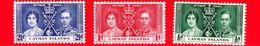 CAYMAN ISLAND - 1937 - Incoronazione Di Re Giorgio VI E Della Regina Elisabetta - Serie Completa - Cayman (Isole)