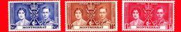 MONTSERRAT - 1937 - Incoronazione Di Re Giorgio VI E Della Regina Elisabetta - Serie Completa - Montserrat