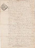 Manuscrit 4 Pages Cachet Généralité LIMOGES 1 Sol 3 Deniers 29/1/1762 Haute Vienne Grosse De Mariage - Cachets Généralité