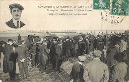 """REIMS - Concours D'Aéroplanes Militaires (octobre 1911),monoplan """"Deperdussin"""", Pilote Vidart. - Meetings"""