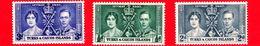 TURKS & CAICOS ISLAND - 1937 - Incoronazione Di Re Giorgio VI E Della Regina Elisabetta - Serie Completa - Turks E Caicos