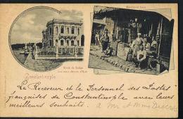 CONSTANTINOPLE  - Multivues 2 -Kiosk Du Sultan- Aux Eaux Douces D'Asie--voyagée1899- Recto Verso-Paypal Sans Frais - Turquie