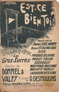 """Partition """"Est-ce Bien Toi ?"""" Chanson Tragique Paroles De Dommel Et Valfy - Partitions Musicales Anciennes"""