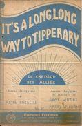 """Partition """"It's A Long,long Way To Tipperary"""" La Chanson Des Alliés Editions Feldmann - Partitions Musicales Anciennes"""