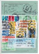 Carte De Réexpédition De La Roche Sur Yon Avec Affranchissement Exceptionnel Timbres D'ANDORRE (Nouvell Adresse à Paris) - Storia Postale