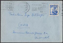 "XB161   Austria,Österreich 1957 Cover To Graz -  ""Besuchet Das Techn. Museum"" - 1945-60 Covers"