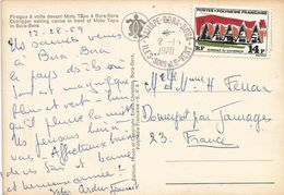 French Polynesia Polynesie 1970 Vaitapa Bora Bora Residence Governor Viewcard - Brieven En Documenten