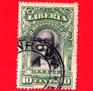 LIBERIA - Usato -  1903 - Lettere Registrate - Harper - 10 - Liberia