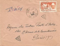Guinea Guinee 1959 Conakry Independence Declaration Toure Taxed Cover - Guinee (1958-...)