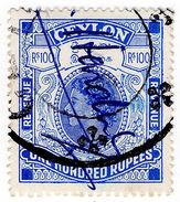 (I.B) Ceylon Revenue : Duty Stamp 100R - Ceylon (...-1947)