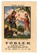 (I.B) Cinderella Collection : Tobler Chocolate Series 14 (Shepherd & Princess) - Switzerland