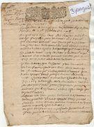 VP11.426 - ALENCON - 3 Actes De 1719 -  Vicomté De FOLLEVILLE - Mr Adrien LECLERC Contre Jacques LAURENT - Seals Of Generality