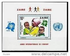 Zaire 1979 OCBn° Bloc 34 Mi Bloc 29 *** MNH Cote 14 Euro Année De L' Enfant - Zaïre