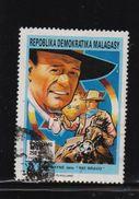 Madagascar 1992, John Wayne, Horse, Minr 1356, Vfu. Cv Undetermined - Madagascar (1960-...)